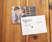 Printable DIY Save the Date postcard, Custom Photo Save the date card, Photograph Save the Date calendar postcard - Customize!
