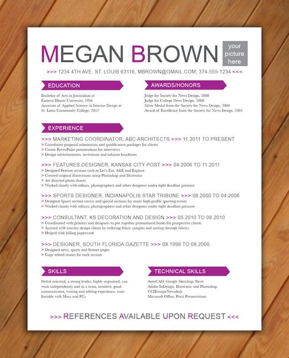 items similar to custom resume template