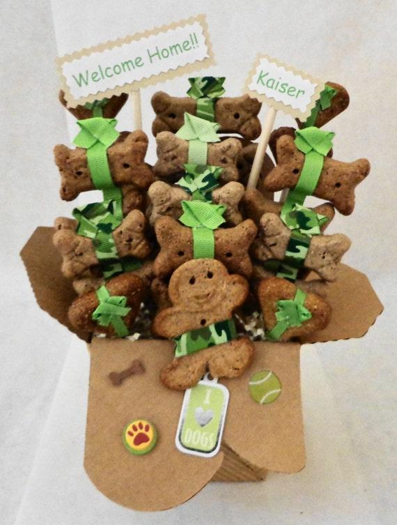Etsy Dog Gift Baskets : Items similar to dog biscuit treat gift basket new