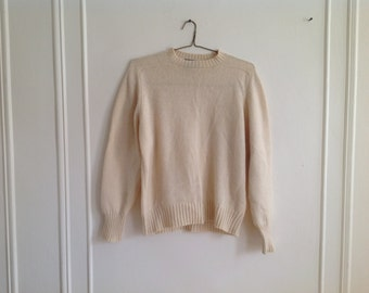 "Cream Color Sweater ""Claude by Brentwood"" - M/L"