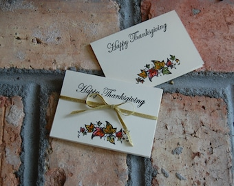 Handmade Thanksgiving Placecards: Set of 6