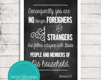 Ephesians 2:19 Instant Download