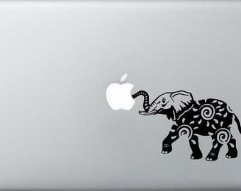 elephant swirl mac book laptop car window decal