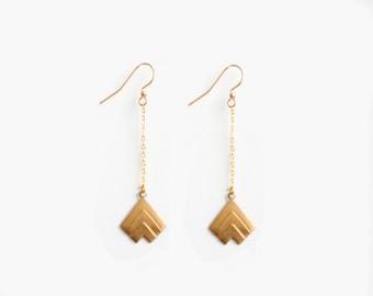 Chevron Arrow Dangle Earrings