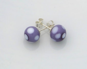 Mauve Lampwork earrings