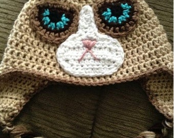 Crochet Grumpy Cat Hat PATTERN