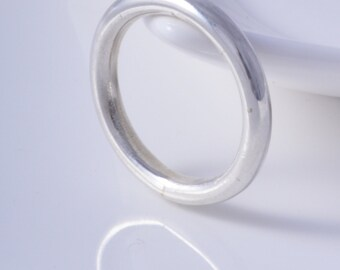 Silver halo ring sterling silver halo ring handmade choose your size custom made to order 925