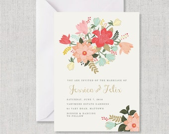 Magnolia wedding invitation etsy for Magnolia tree wedding invitations
