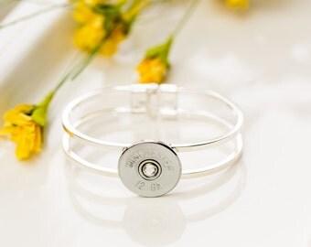 Bullet Casing Jewelry - Shotgun Casing Bangle Bullet Bracelet (12 Gauge)