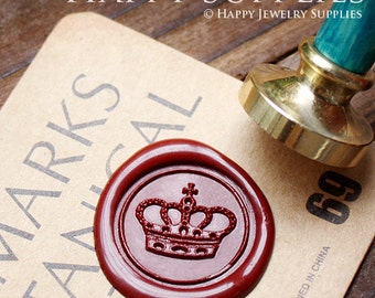 Buy 1 Get 1 Free - 1pcs Imperial Crown Gold Plated Wax Seal Stamp (WS010)