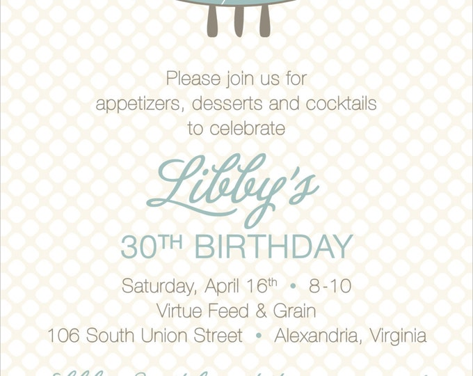 Classy Modern Dot Surprise | Adult Birthday Invitation