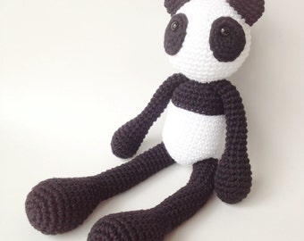 Panda Plush, Panda Stuffed Animal, Panda Plushie, Panda Stuffed Toy, Crochet Panda