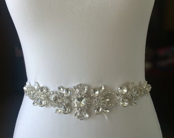 Crystal Rhinestone Wedding Sash- Bling Wedding