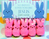 Easter Favor; Easter Bag Topper; No Bunny Loves You Like Jesus ; Easter