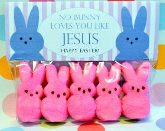 Easter Favor; Easter Bag Topper; No Bunny Loves You Like Jesus ; Easter