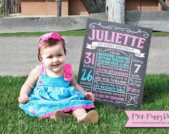 Custom Chalkboard Birthday Sign, Multiple Sizes Available, Printable, Custom Digital File