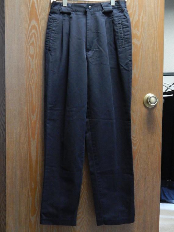cabin creek womens 10 black pleated 2 pocket straight leg On cabin creek corduroy elastic waist pants