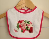 Baby clothes girl elephant bib newborn to 1yo