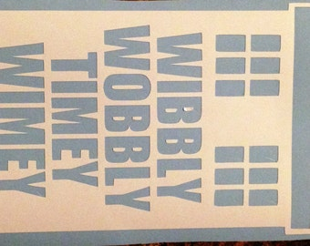 Doctor Who Inspired- Wibbly Wobbly Timey Wimey Tardis Decal