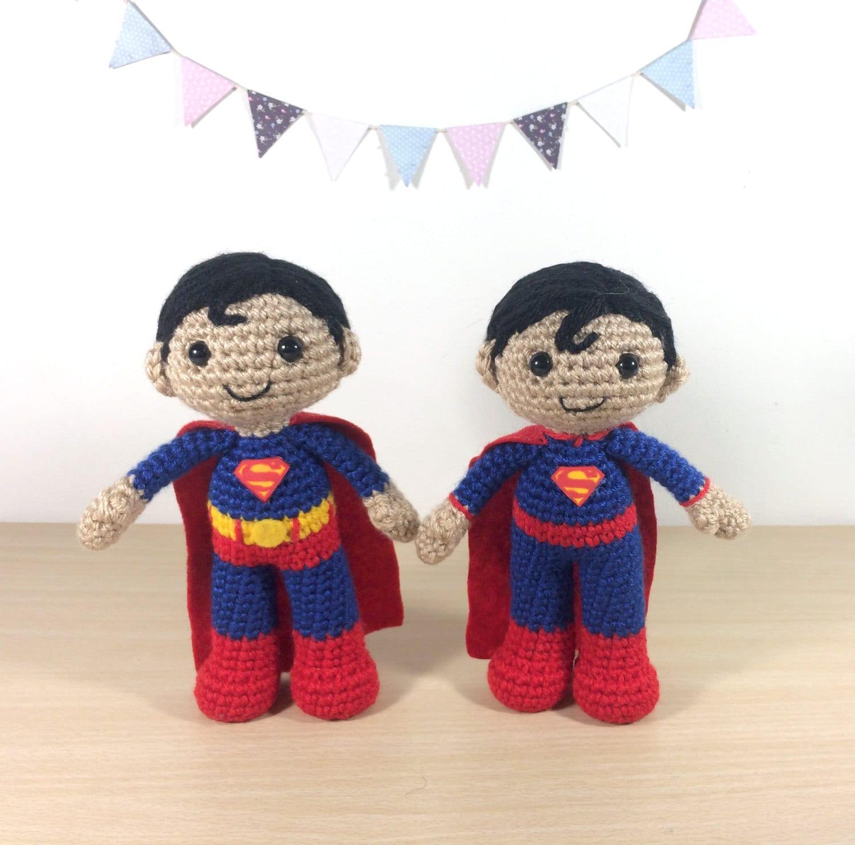 Superman Amigurumi Crochet Plush Doll
