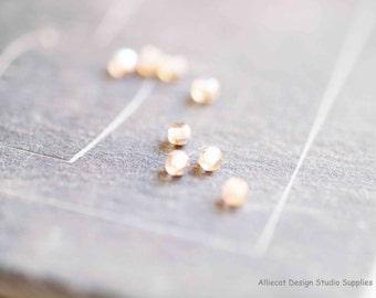100 Smoky Topaz AB 3mm Round Czech Glass Beads (S115)