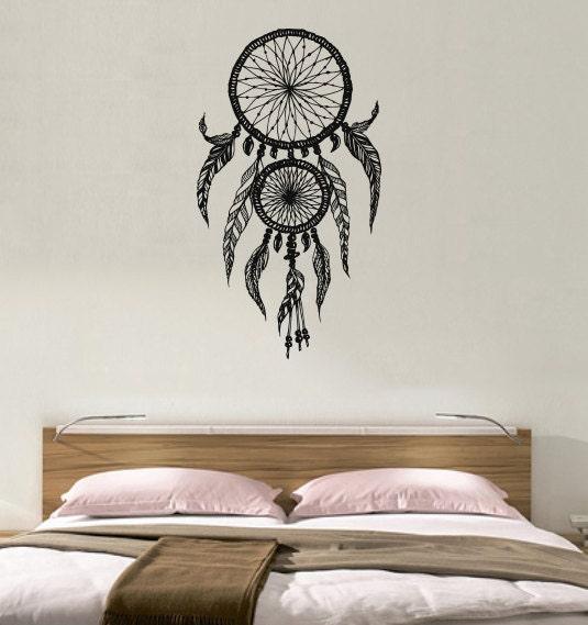 Dreamcatcher dream catcher feathers housewares wall vinyl - Murales camera da letto ...