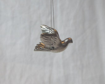 silver plated lead-free pewter dove charm