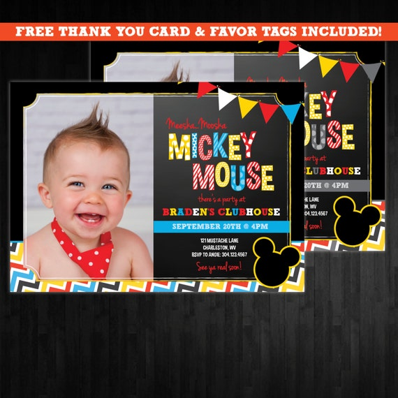 Mickey & Minnie Invitations was awesome invitations template