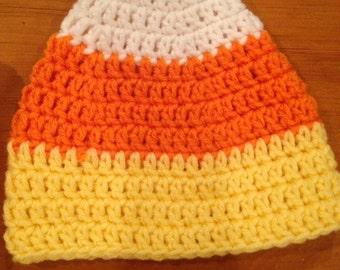 Candy Corn Hat - Halloween, Fall, Sizes Baby to Adult