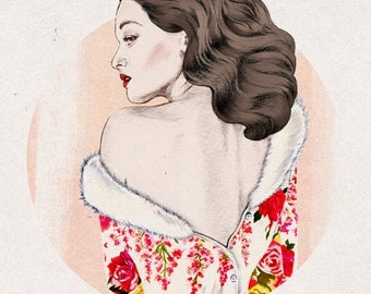 Vintage Fashion Illustration Print