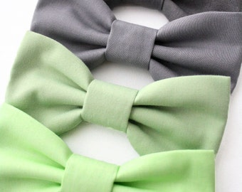 Mint Sage Green Grey Dog Bow Tie Cat Bow Tie Wedding Dog Bowtie Formal Removable