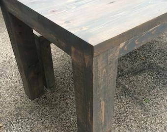 Farm Table, Dining Table, Farmhouse, Parsons Table, Rustic Wood Table, Reclaimed Table