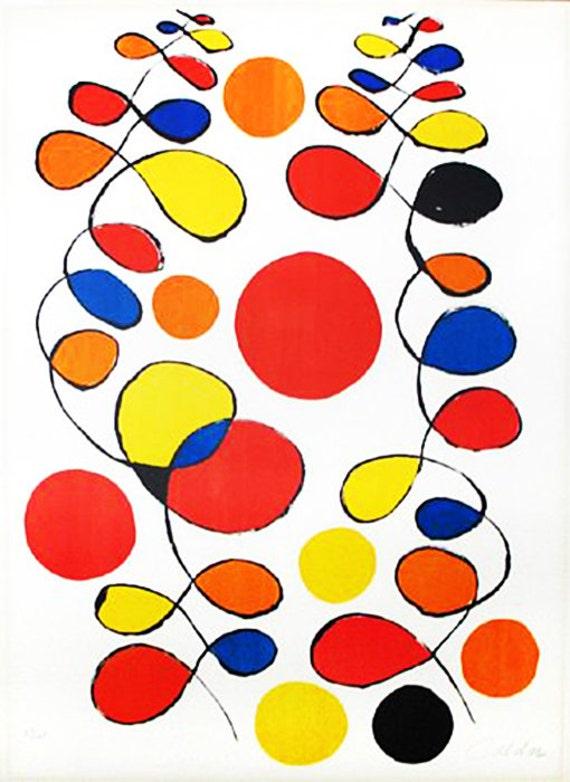 alexander calder copeaux de spirales 1969 lithographie s n retail 6 500 coa voir. Black Bedroom Furniture Sets. Home Design Ideas