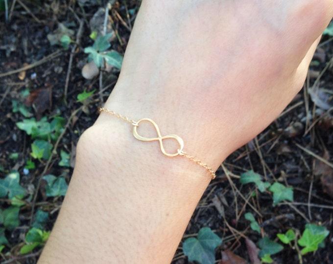 Infinity bracelet - 14K gold filled infinity bracelet //Sterling silver EB005