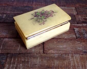 Alabaster Trinket Box Jewelry Box
