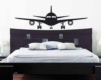 Airplane Wall Decal: Plane Wall Decal   Airplane Vinyl Wall Decor