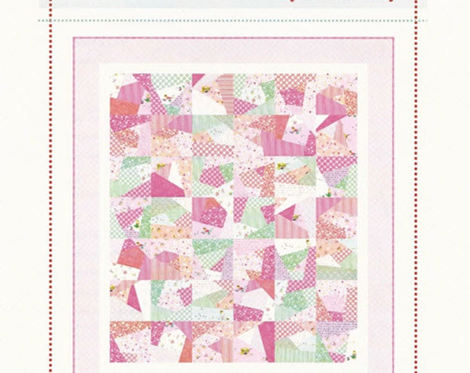 """Playful Quilt Pattern - Layer Cake Pattern Perfect for Beginners - by Aneela Hoey - 62"""" x 70"""" - AH 1209 (W1736)"""