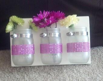 "Mason jar organizer ""Princess Edition"""