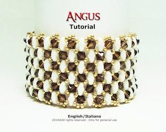 Tutorial Angus Bracelet - beading pattern