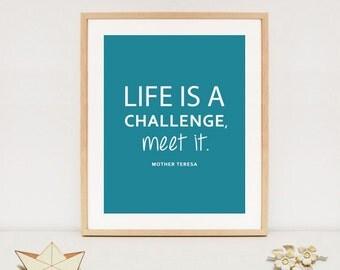 mother Teresa art printable - mother teresa quote poster - INSTANT DOWNLOAD - Digital printable
