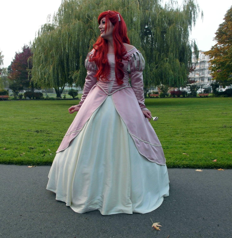 Items Similar To Ariel Pink Dinner Gown Mermaid Dress