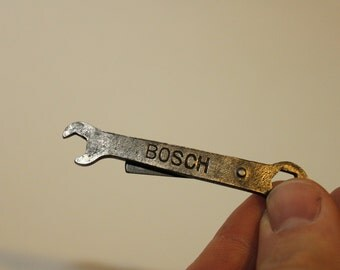 Vintage Mini Bosch Wrench Necklace