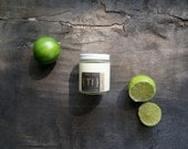 Thallos: Vanilla Lime Soy Candle {Th} in Glass Jar 5oz. with Cotton Wick or Wood Wick