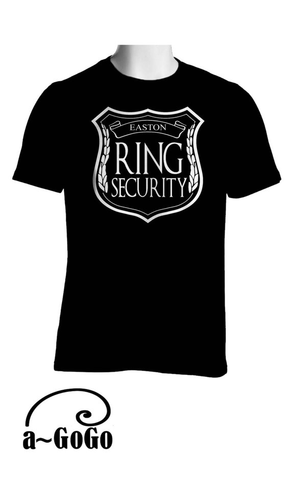 Personalized Ring Bearer T-Shirt, Ring security, ring bearer shirt, ring security shirt