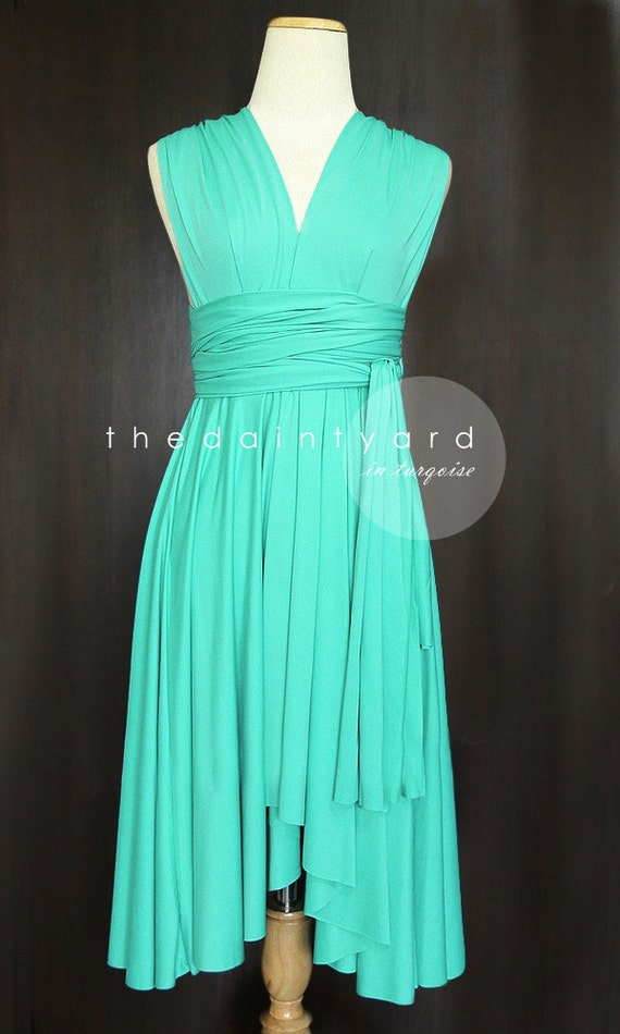 Turquoise Bridesmaid Dress Convertible Dress By Thedaintyard