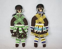 Two Vintage Beaded Dolls.