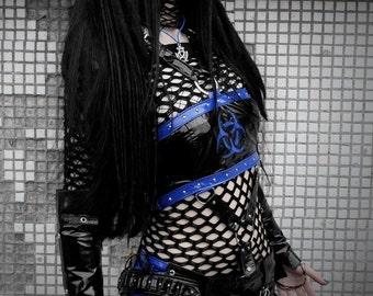 Cyber goth PVC Black Shorts
