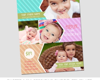 Easter Mini Session Photography Template - Marketing Template - Colorful Spring Design - Alter colors to fit brand