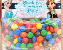 INSTANT DOWNLOAD Disney Frozen Bag Toppers Thank you for coming to my Party Printable