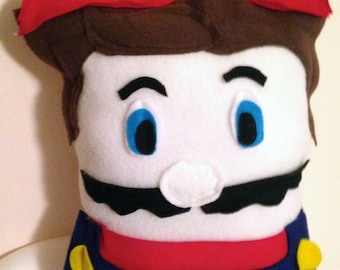 Mario Decorative Fleece Character Geek Pillow (plush, cushion)